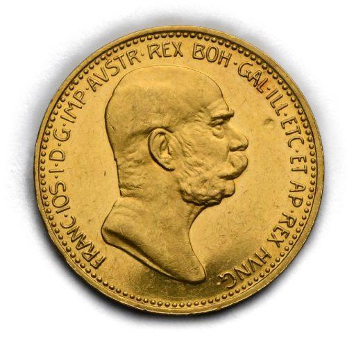 20 Koruna 1908 – 60. Výročí Vlády Františka Josefa I.