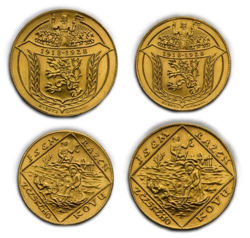 Zlatá sada 2 a4 dukátů – Jsem Ražen zČeského Kovu 1973