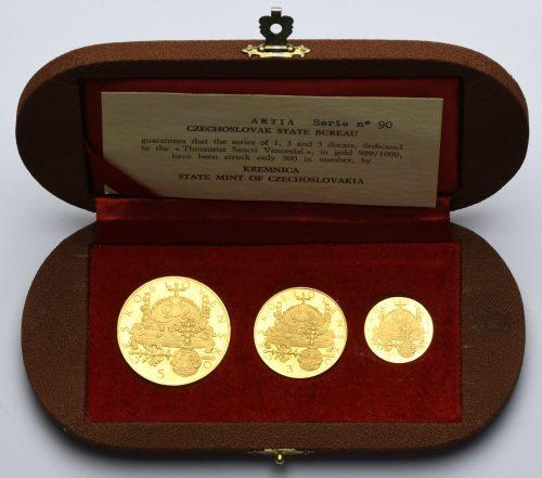 Zlatá sada 5, 3 a1 dukátů – Korunovační klenoty 1972