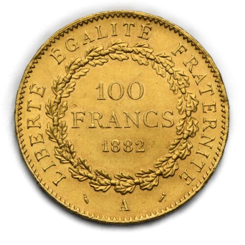 100 Frank Anděl – 1882 A