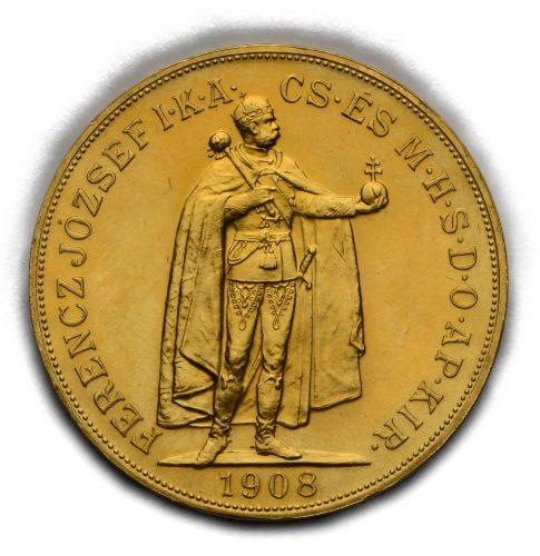 100 Koruna Františka Josefa I. 1908 KB