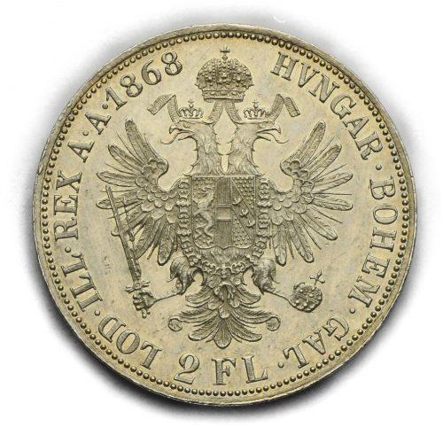 2 Zlatník Františka Josefa I. 1868A