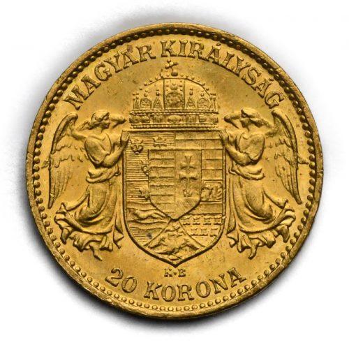 20 Koruna Františka Josefa I. 1915 KB