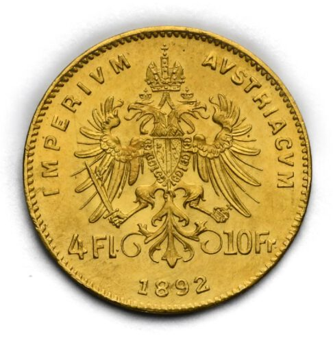 4 Zlatník Františka Josefa I. 1892