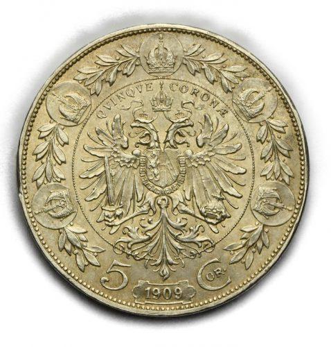 5 Koruna Františka Josefa I. 1909 Marshall