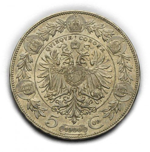 5 Koruna Františka Josefa I. 1900