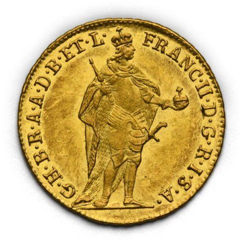 Dukát František II. 1796 KB – Stojící panovník