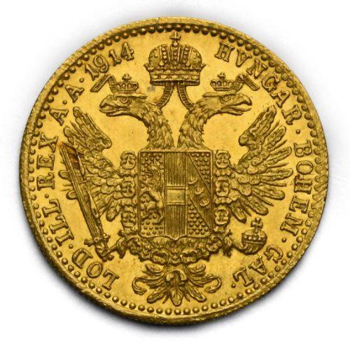 Dukát Františka Josefa I. 1914