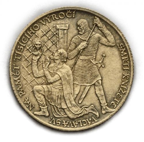 Stříbrná medaile – 1000. výročí smrti svatého Václava 1929