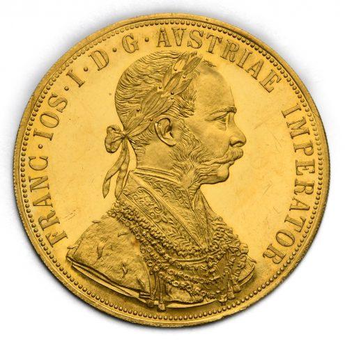 4 Dukát Františka Josefa I. 1915 – Původní ražba