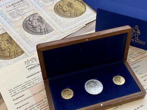 Sada Au aAg medailí Antonín Švehla – VYŠEL ROZSÉVAČ 1933/2021