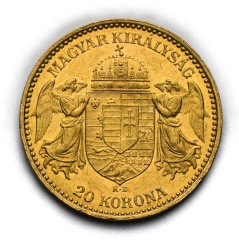 20 Koruna Františka Josefa I. 1898 KB