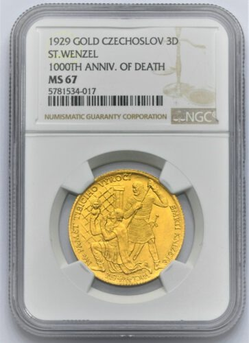 3 Dukát 1929 – 1000. výročí smrti svatého Václava